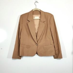 Pendleton 100% Virgin Wool Size 14 Tan Blazer
